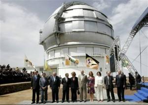 Os Reis da Espanha inauguram maior telescópio do mundo, sem Jarre ou Brian May