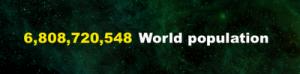 População do mundo