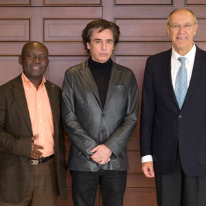 Sam Mbende, Presidente da PACSA/ e Jarre (CISAC) e Francis Gurry (Presidente do WIPO)