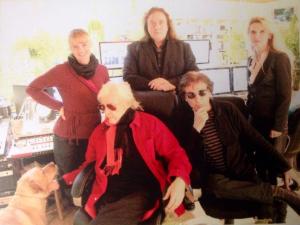 Jarre junto com Edgar Froese e a banda Tangerine Dreams em fevereiro/2014 em Viena