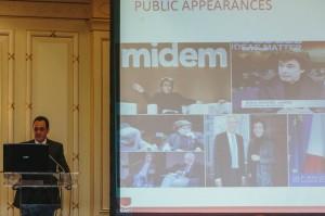 Gadi Oron do Conselho-Geral do CISAC, dando uma visão geral do incansável ano do presidente Jarre a frente da campanha