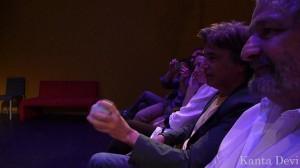 Jarre brincando com o Interactive Music Battle da Phonotonic.