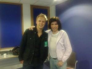 "Armin van Buren e Jarre durante a turnê ""Oxygene Tour"" 2009"