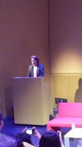 Como Presidente do CISAC, Jarre faz palestra no IRCAM.