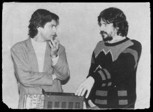 Jarre e Peter Vogel, inventor do Fairlight