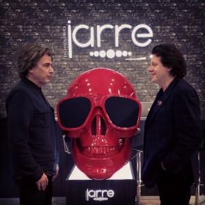 Jean Michel Jarre e  o CEO Roland Caville.