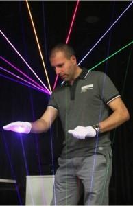 Harpa Laser em ação