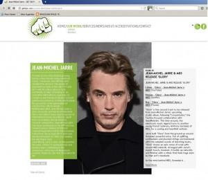 Pagina da Get In, dedicada a Jarre.