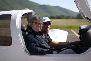 Michel Granger supervisionando o projeto  em voos panorâmicos.