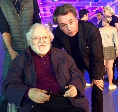 Jarre com seu ex-mestre no GRM, Pierre Henry.