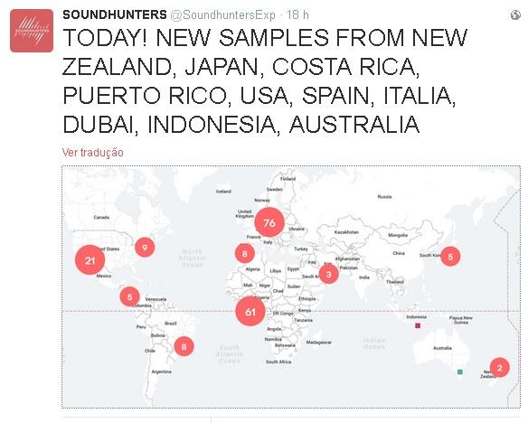 Samplers e faixas são produzidas em diferentes partes do mundo...inclusive Brasil !