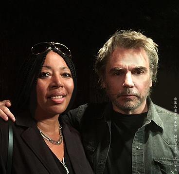 Bianca Froese-Acquaye (esposa de Edgar Froese) e J.M.Jarre