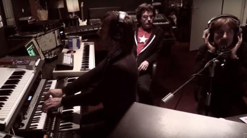 Nicolas Godin, Jean-Benoît Dunckel e Jarre em estúdio