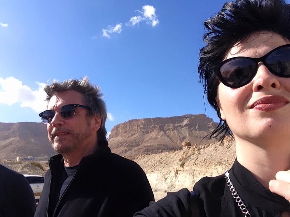 Jarre em Massada com a cantora Kama Kamila