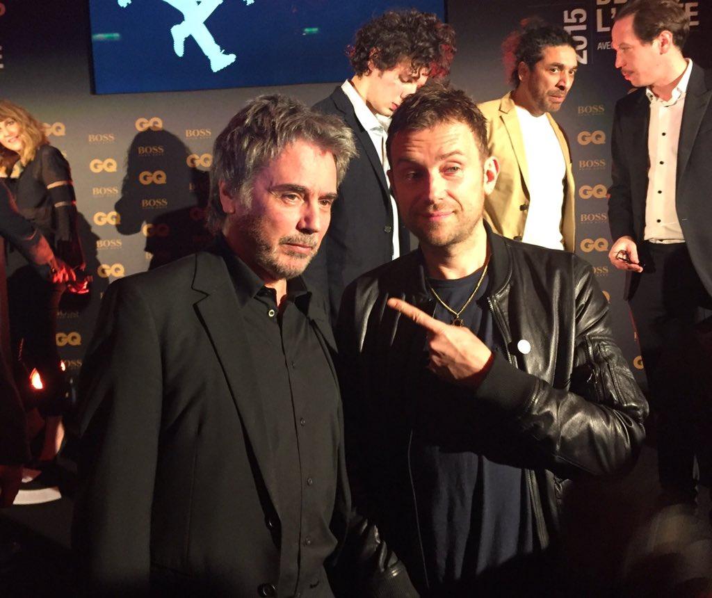 Jarre e Damon Albarn (Blur e Gorillaz)