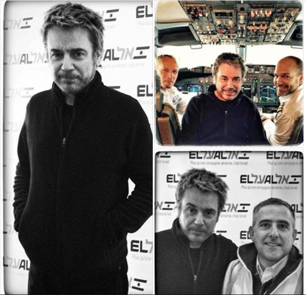 Jarre embarcando para ISRAEL no avião da companhia EL AL