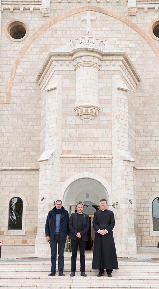 Jarre com algumas autoridades da Igreja Católica em Jerusalém.