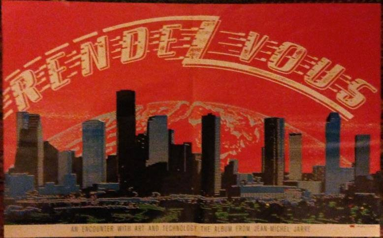 Propaganda do concerto de Houston, na Billboard Americana . Abril 1986.