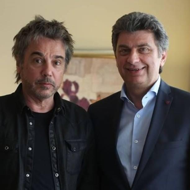 J.M.Jarre e Andrzej Matusiak, Diretor do espetáculo.