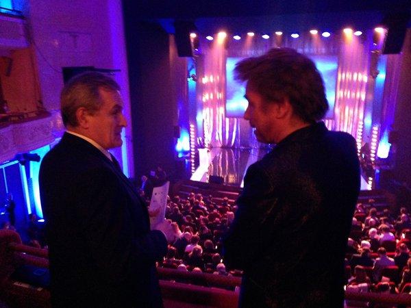 Jarre com o Ministro da Cultura da Polônia.