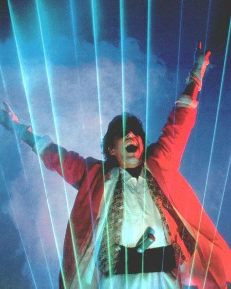 Jarre e sua harpa laser