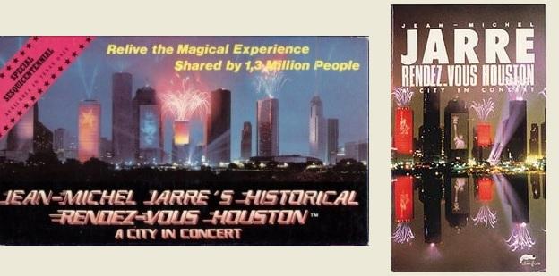 VHS americano e Europeu do Concerto de Houston lançados nos anos 80 (fora de catálogo)