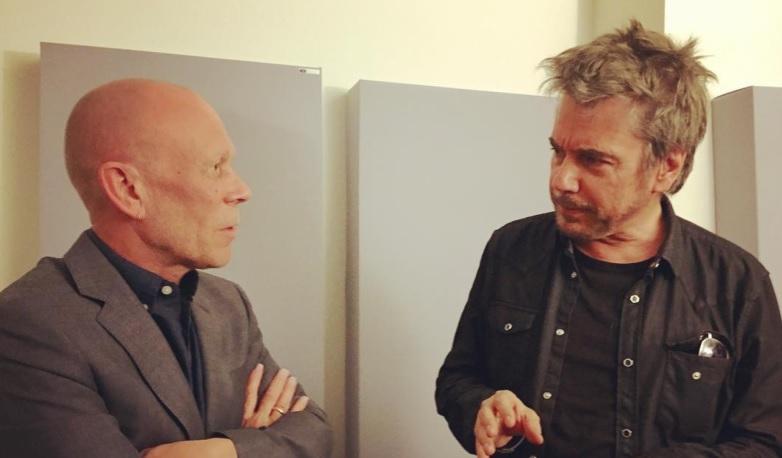 Jarre visita  Vince Clarke em NY.