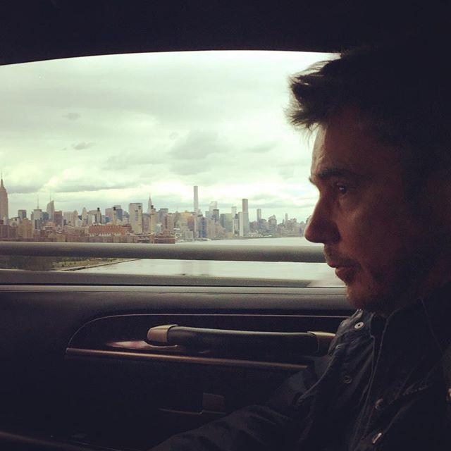 Jarre chegando a NY, nos EUA.
