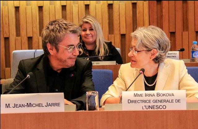 Jarre a Diretora-Geral da UNESCO, Irina Bokova