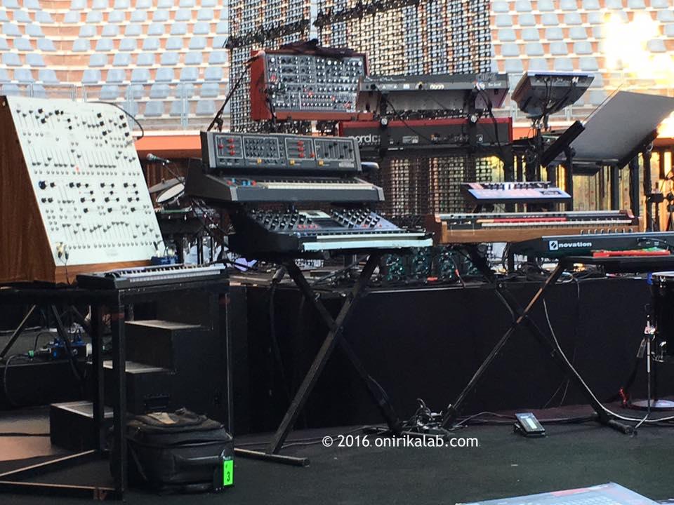 Backstage do concerto de Roma
