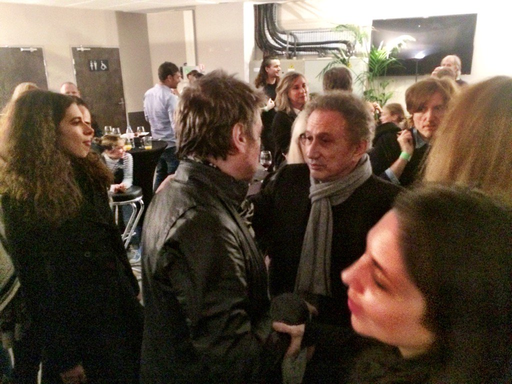 Jarre recebe o amigo Michel Drucker e Nicholas Godin (AIR)