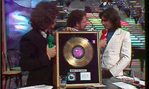Jarre recebe disco de ouro por Oxygene de Jacques Martin
